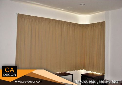 One way pleat curtain