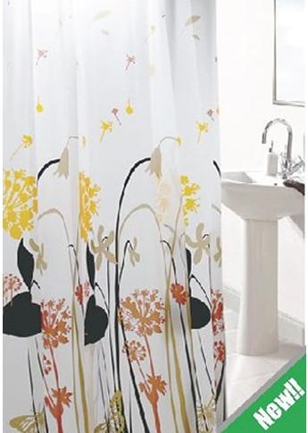 PVC bathroom curtain