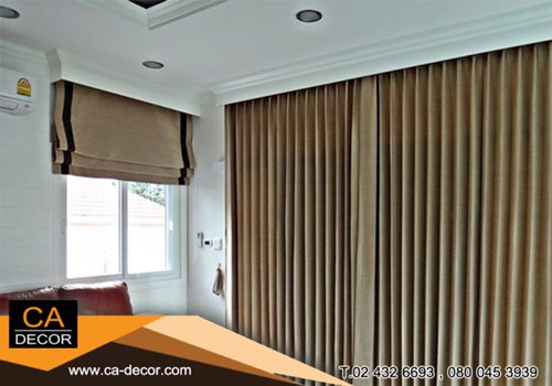 Pleat curtain_built in