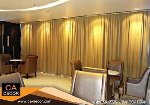 Pleat_curtain, meeting room