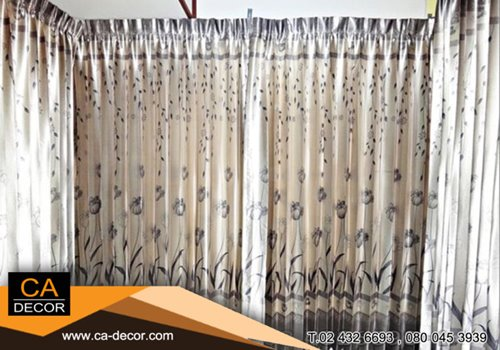 Pleat curtain glass room divider