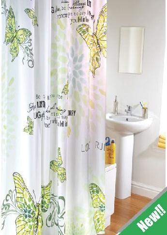 Polyester bathroom curtains