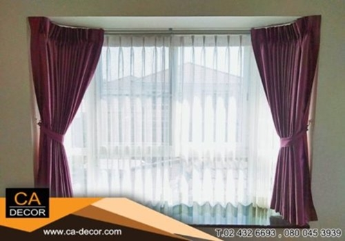 Purple pleat curtain