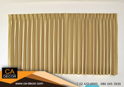 Yellow pleat curtain