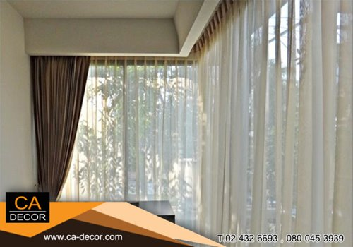 pleat curtain Curved rail
