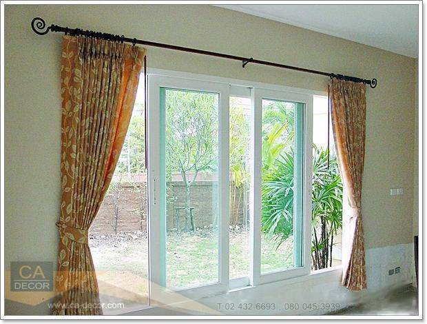 Pleated curtains-and fashion rails-1