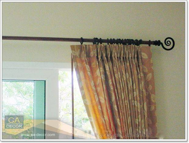 Pleated curtains-and fashion rails-2