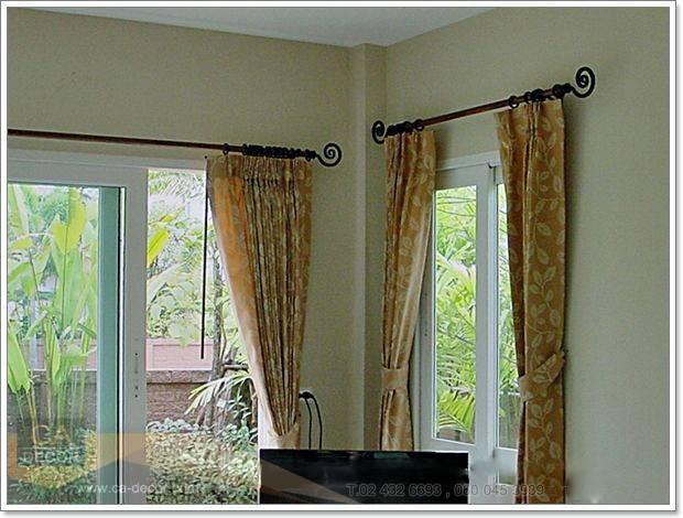Pleated curtains-and fashion rails-3