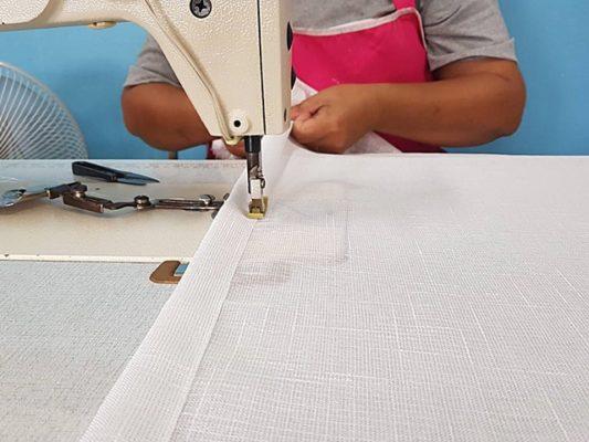 วิธีการตัดเย็บผ้าม่าน การเย็บริมผ้าม่าน