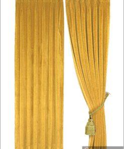 ผ้าม่านกำมะหยี่สีเหลือง 30011-106