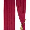 ผ้าม่าน กำมะหยี่ สีแดงบานเย็น 30011-108