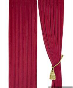 ผ้าม่านกำมะหยี่สีแดงบานเย็น30011-108