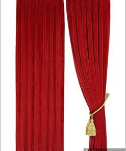 ผ้าม่าน กำมะหยี่สีแดง 30011-109