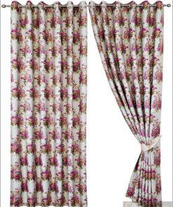 ผ้าม่านตาไก่ พิมพ์ลายดอกไม้วินเทจ 5-DF8