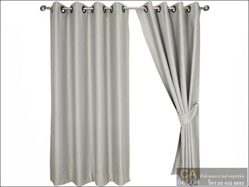 Gray eyelet window curtains
