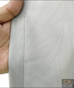 ผ้าม่านตาไก่สีเทา ลายใบไม้3- MR3