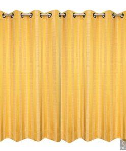 ผ้าม่านสำเร็จรูป-ลายทางสีเหลืองทอง