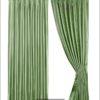 ผ้าลายเส้นโค้ง สีเขียว-DF3