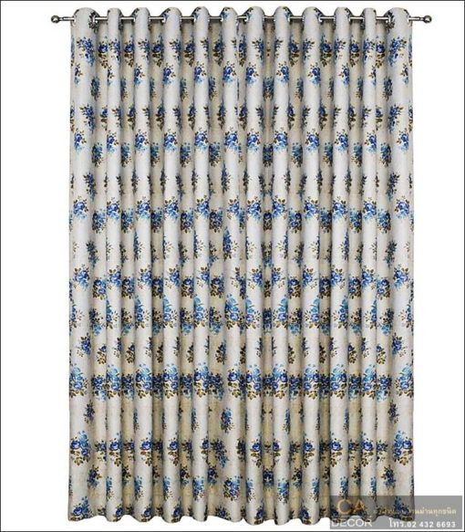 Blue flower pattern curtain 4_DF 8-4