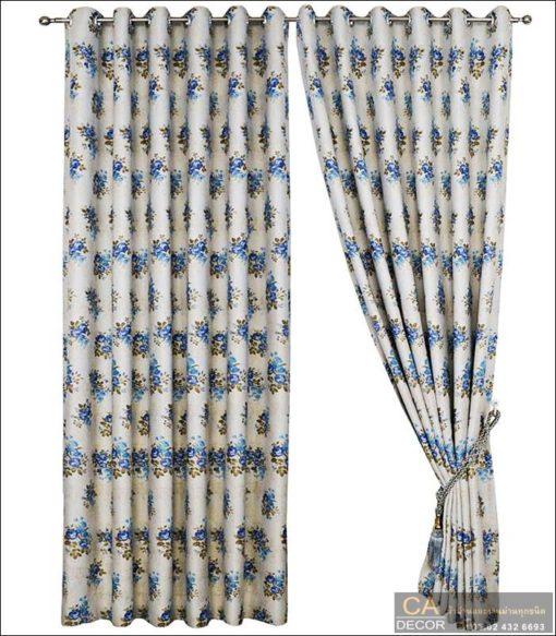 ผ้าม่านตาไก่ สีฟ้า5_DF 8-4