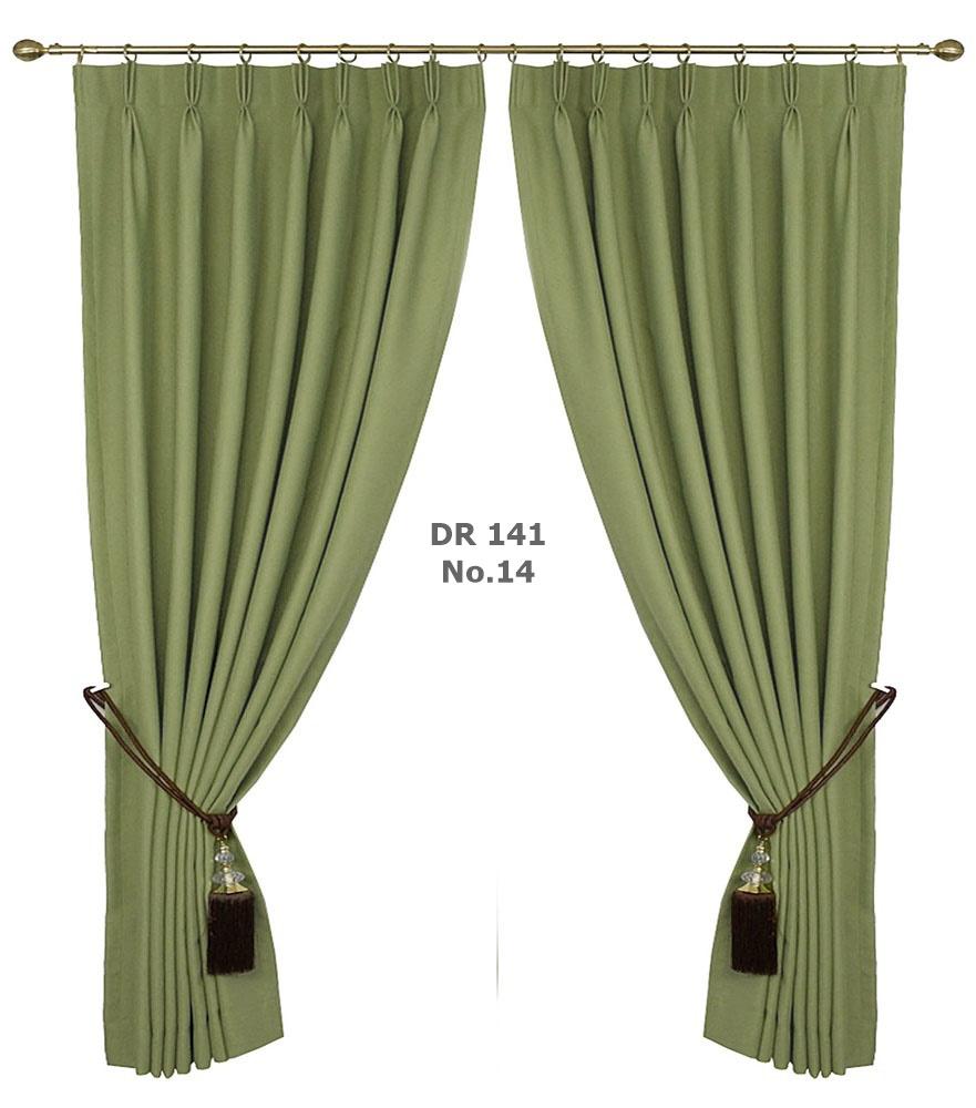 ผ้าม่านประตูสีเขียวใบไม้