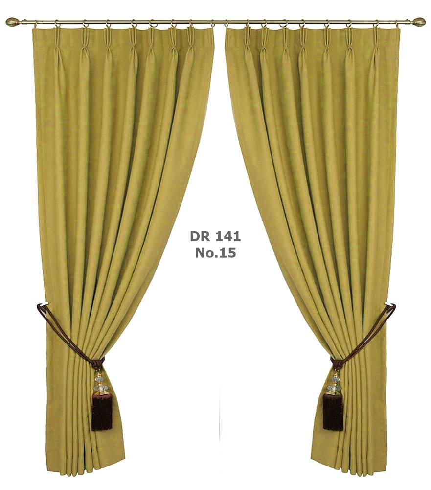 ผ้าม่านประตูสีเหลือง คอนโด