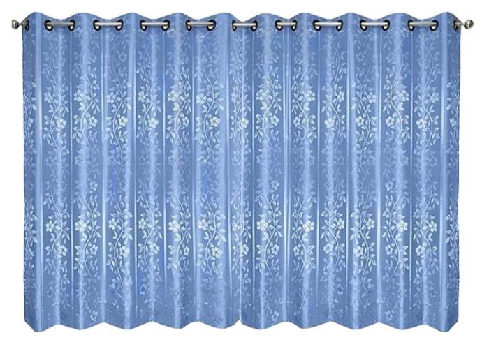 ผ้าม่านหน้าต่างสีฟ้า รุ่นเยาวพรรณ